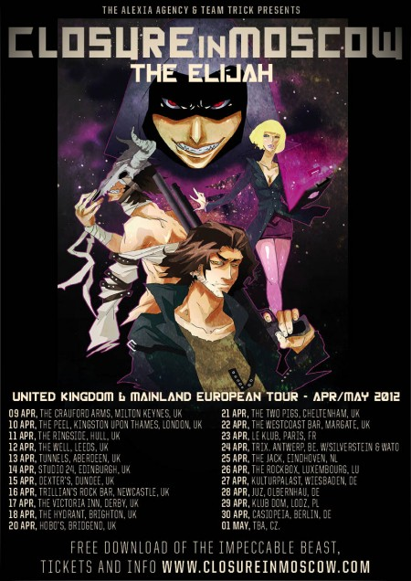Closure in Moscow to tour UK and Europe! post image